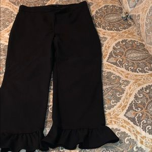 Zara Black ruffle Pants